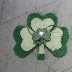 Finished Shamrock, Easy St. Patrick's Day Barrett
