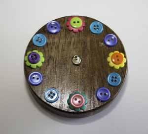 Clock-with-Button-Face-300x271 Springtime Button Bonanza