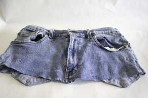 Front of Cut Off Jeans, Create New Looks for Old Jeans