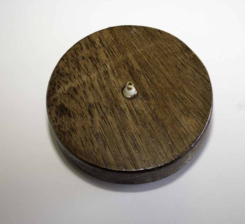 Stained Wood with Hole, Springtime Button Bonanza