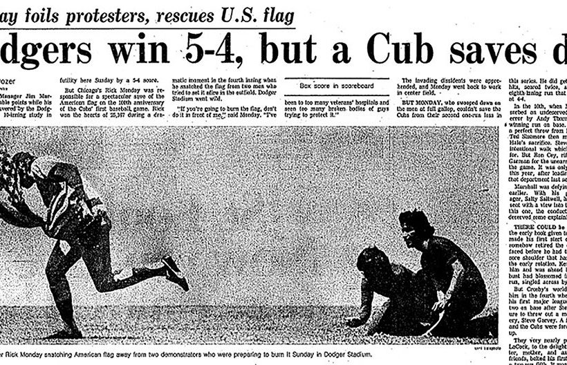 Rick Monday Saves the American Flag, Greatest Play in Baseball