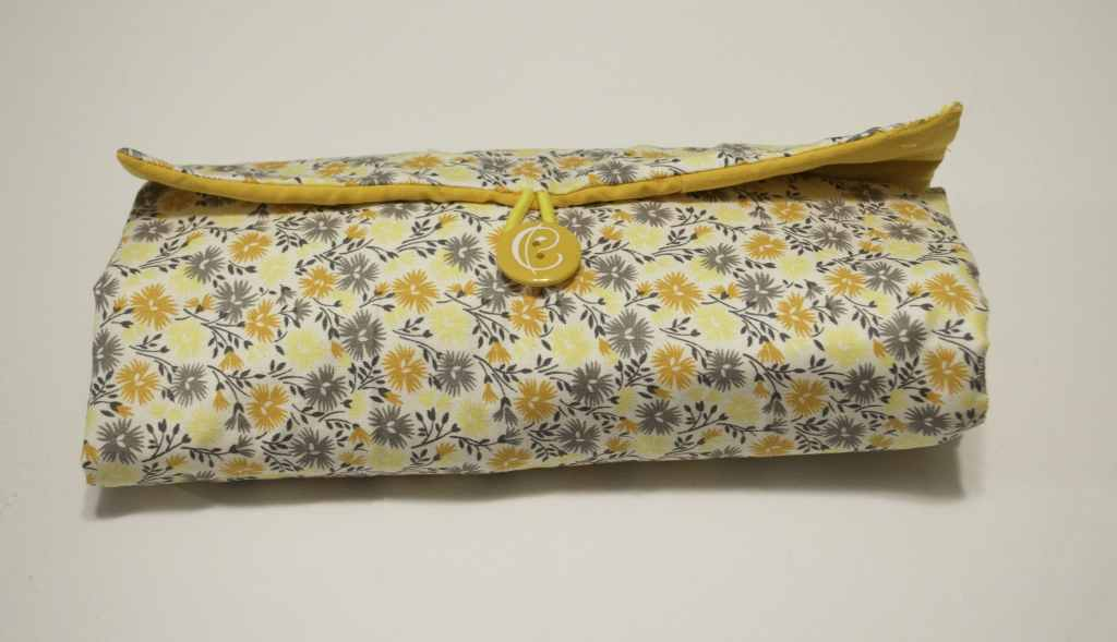 Final Rolled up Makeup pouch and brush caddy, Sew Crafty Travel