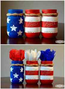 4th of July Mason Jars, July 4th Party