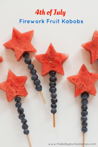 4th of July Fruit Kabobs, July 4th Party