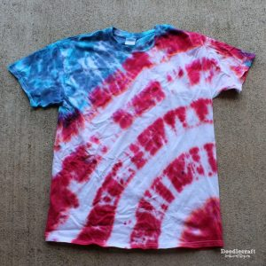 American flag tie dye red white and blue, July 4th Party