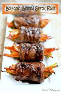Balsamic-Glazed-Steak-Rolls-by-PitcureTheRecipe-com2-199x300 July 4th Party Fun