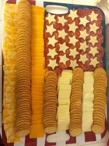 Flag Cheese Tray, July 4th Party