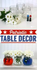 Patriotic-Table-Decor, July 4th Party