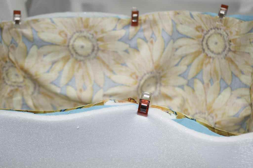 Place the outer bag into the inner bag right sides together, Perfect Picnic Patterns