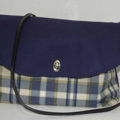 Finished Tartan Messenger Bag, Tartan Messenger Bag