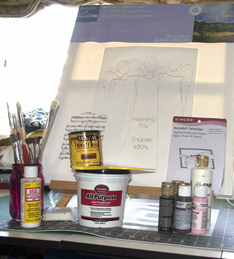 What you will Need: Paint Your Own Christams Angels
