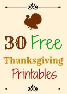 30 Free Thanksgiving Printables, Thanksgiving around the web