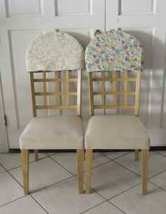 Reversible Padded Chair Back Covers