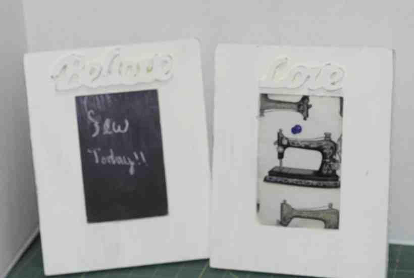 Antiqued Picture Frame Blackboard