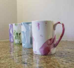 Marbled-Mugs-300x278 How to Make Marbled Mugs