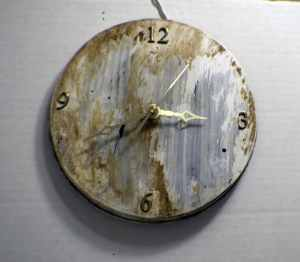 Distressed-Clock-300x262 Upcycle Dollar Store Range Covers