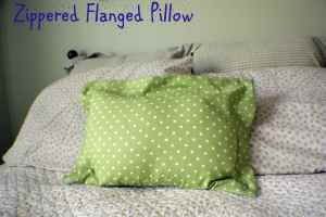 Zippered-Flanged-Pillow-1-300x200 How to Make a Zippered Flanged Pillow