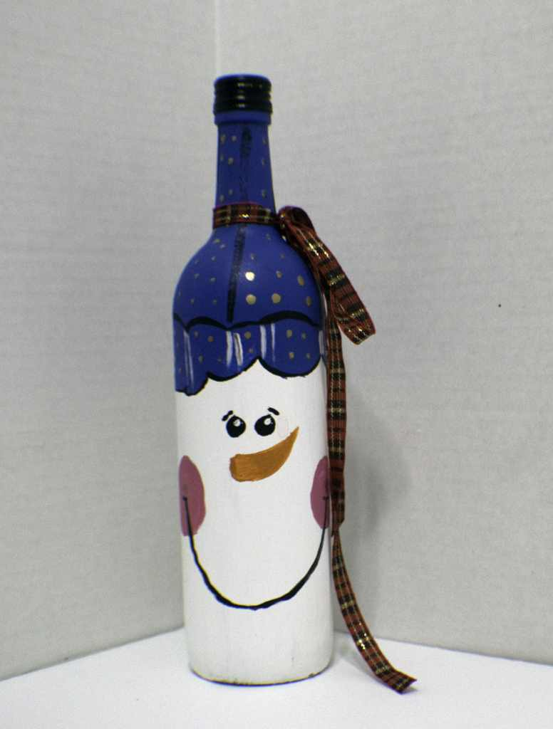 Paint Holiday Wine Bottles