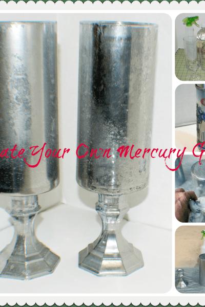 Dollar Store Faux Mercury Glass Hurricanes