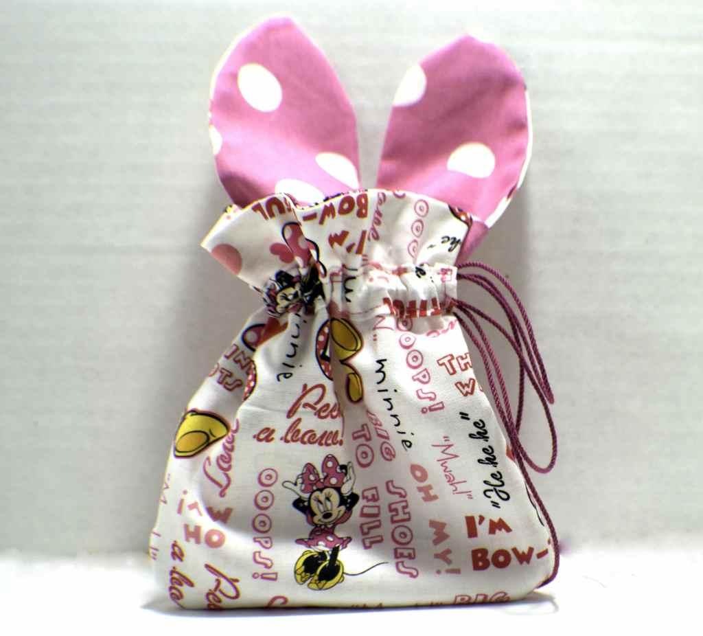 How to make a drawstring Easter bunny bag