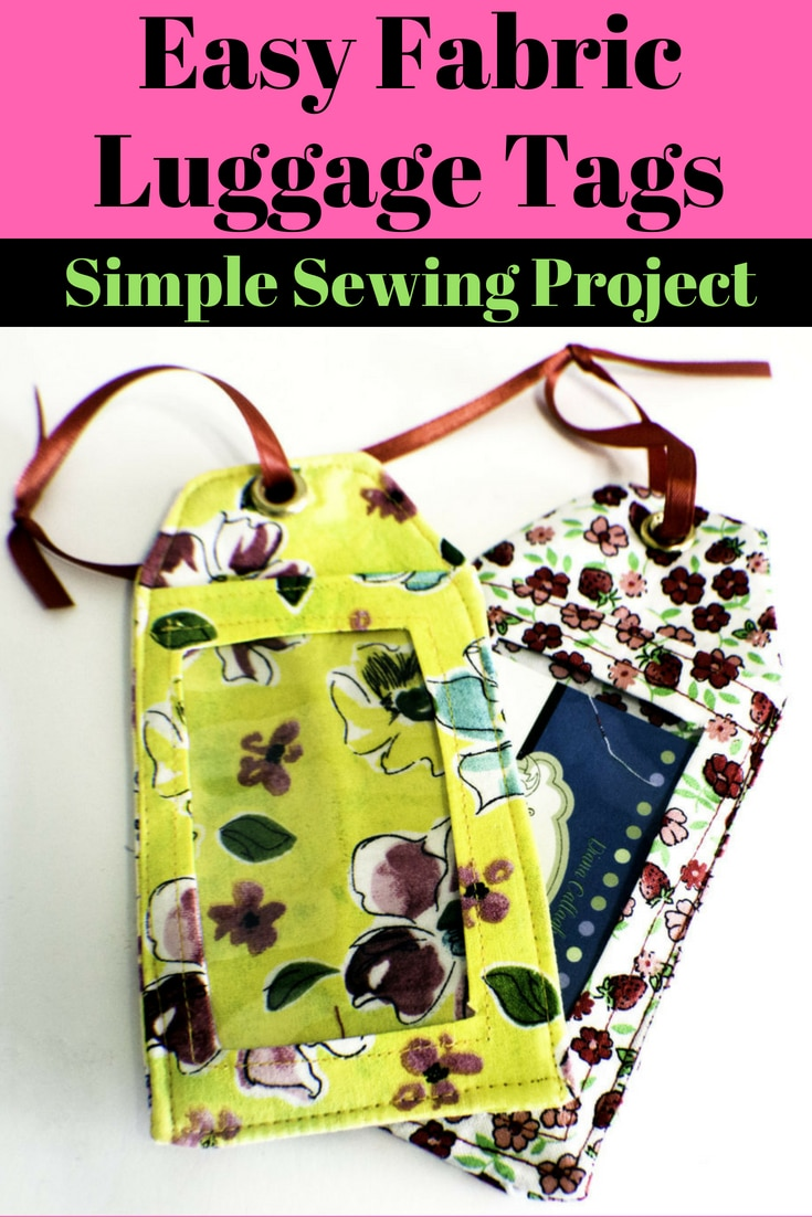 f9fa467e9d69 How to sew DIY luggage tags. Sew luggage tags. Luggage tags tutorial