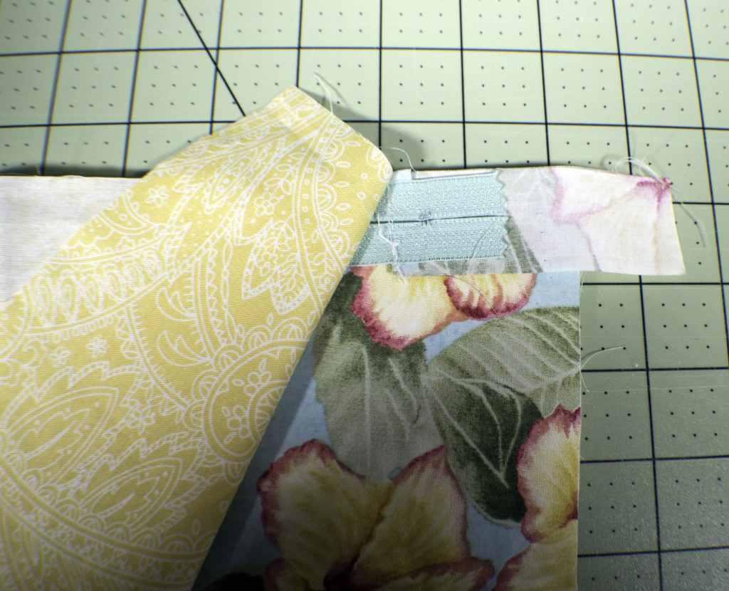 Add-the-bottom-zipper-1024x830 How to Make a Fabric Closet Safe