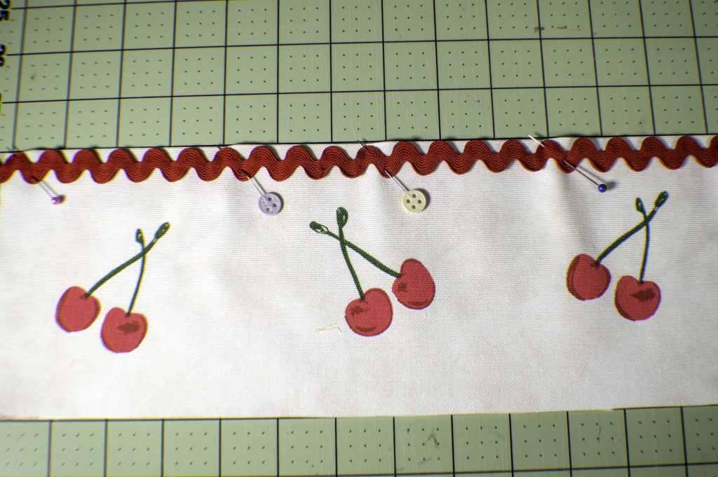 Add-Ric-Rac-1024x681 How to Make an Easy Fabric Door Organizer