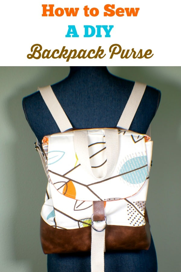 Back-Pack-Short How to Sew a DIY Backpack Purse