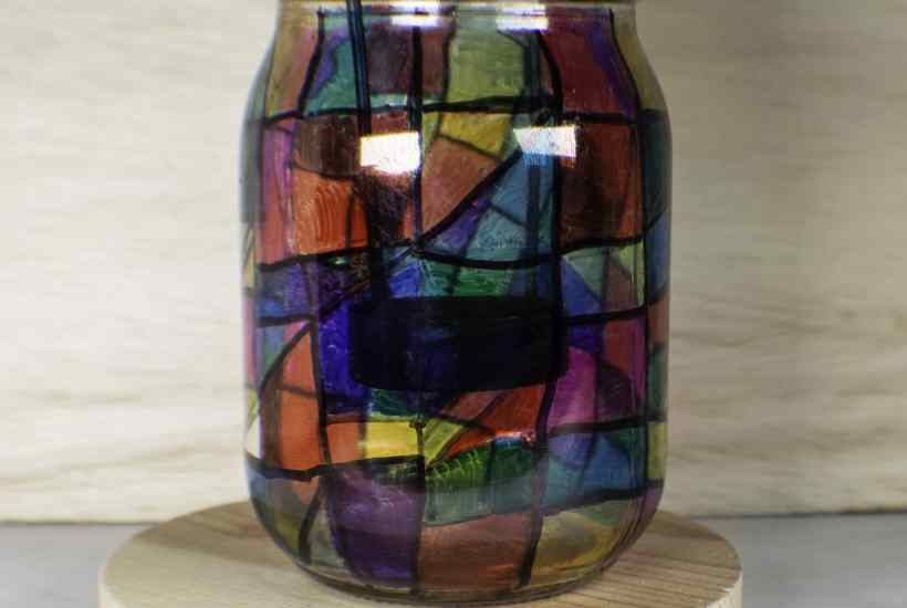 How to make sharpie stained glass