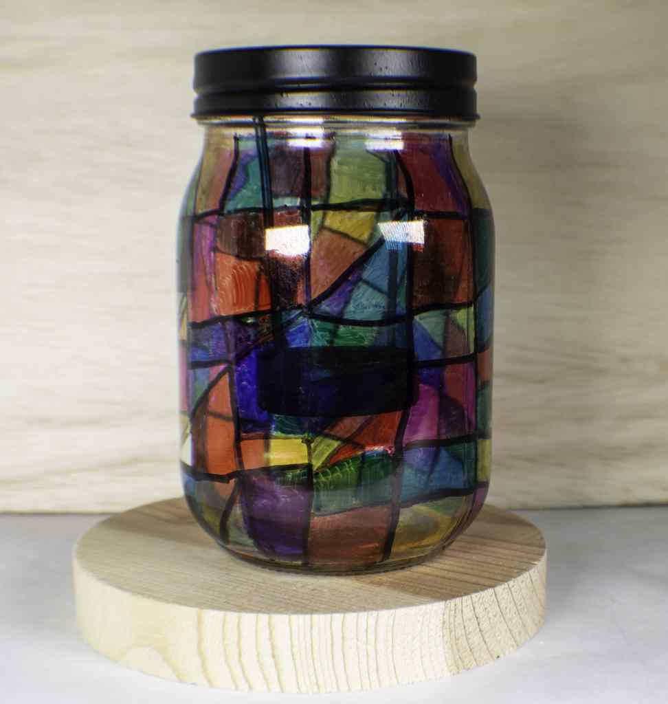 Finished-Stained-Glass-Votive-972x1024 How to Make Sharpie Stained Glass