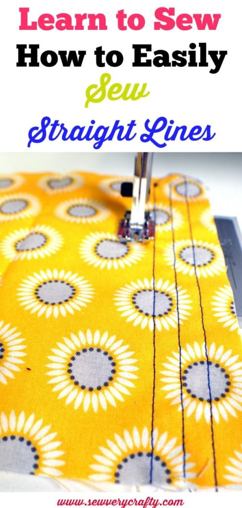 learn to sew: how to easily sew straight lines