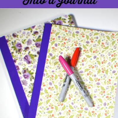 Turn a Composition Book into a Beautiful Journal