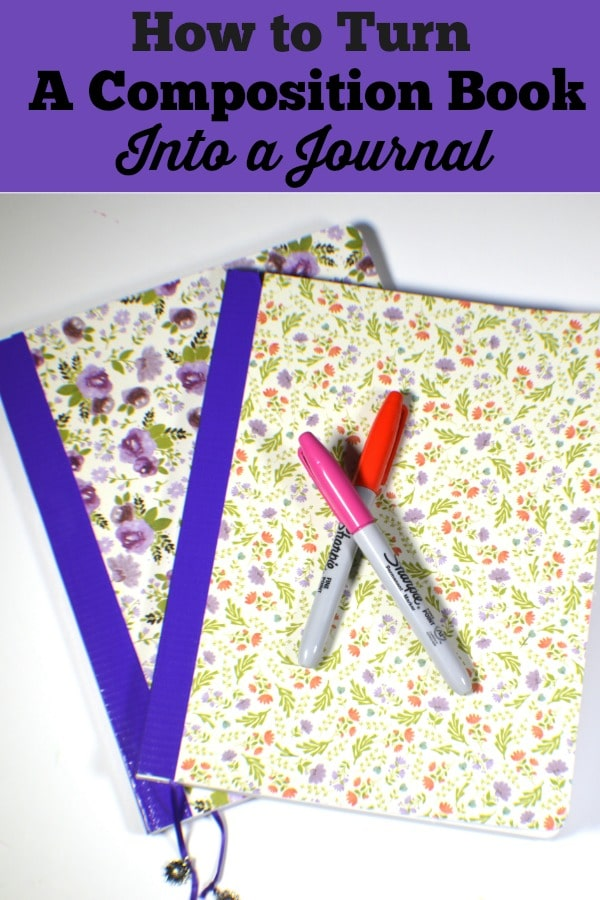 Journal-Pin Turn a Composition Book into a Beautiful Journal