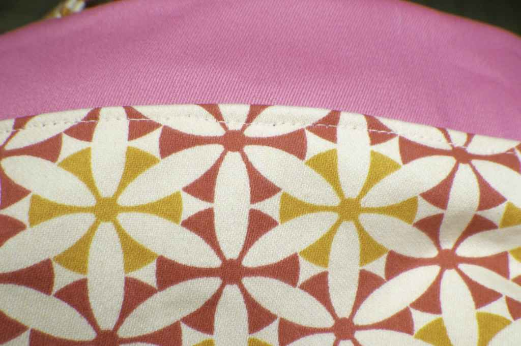 Topstitch-along-the-seam-1024x681 How to Make a Pretty Little Lunch Bag