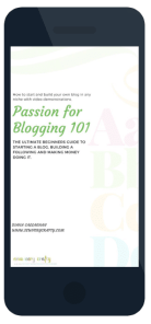 ebook-phone Passion For Blogging Landing Page