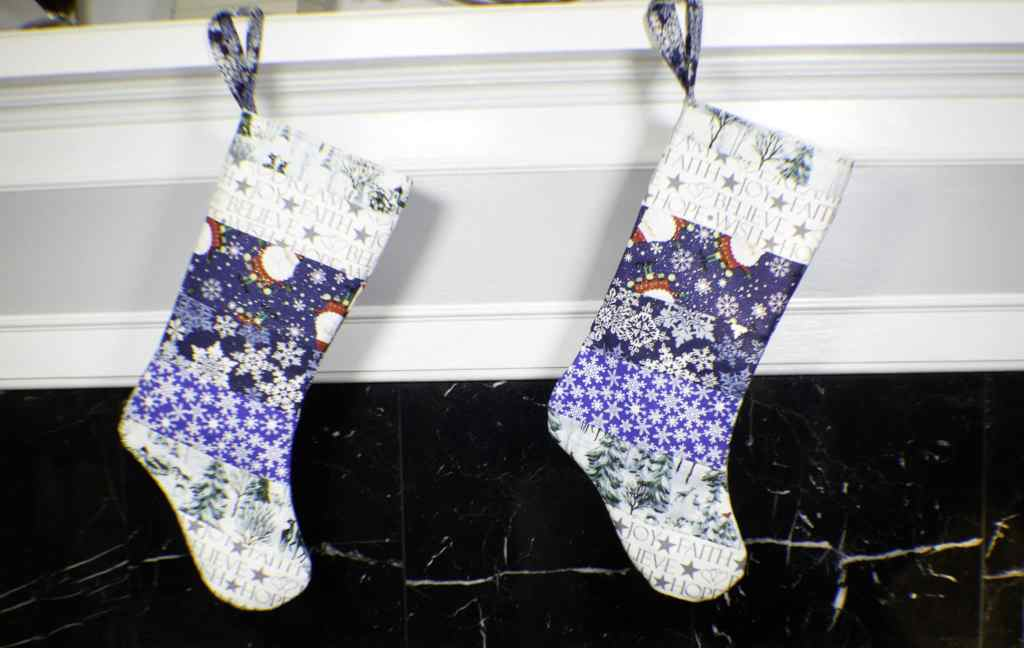 How to make a patchwork Christmas stocking