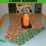Easy Reversible Holiday Table Runner