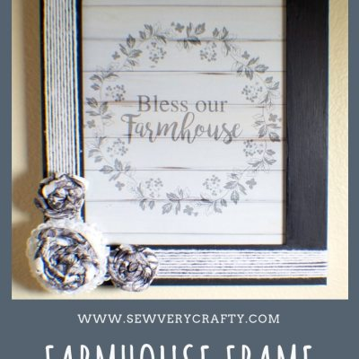 How to Make a Farmhouse Picture Frame