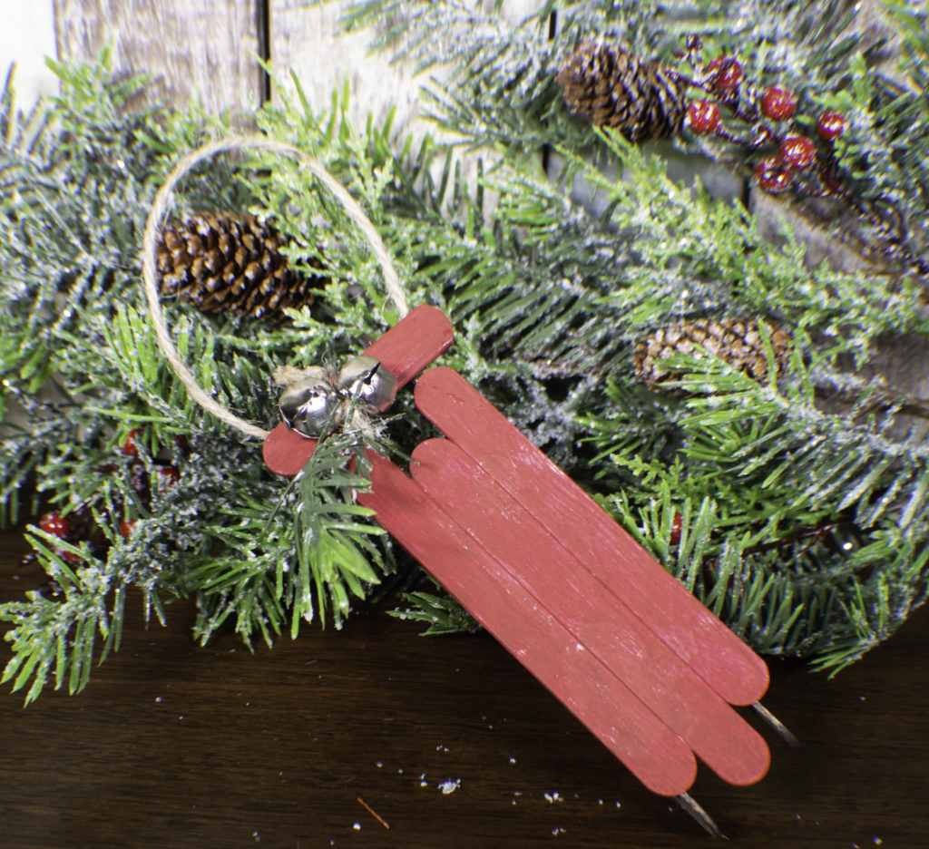 Finished-sled-1-1024x936 How to Make Popsicle Stick Sled Ornaments