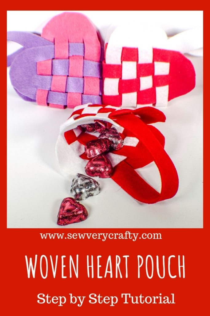 How to make a woven heart pouch