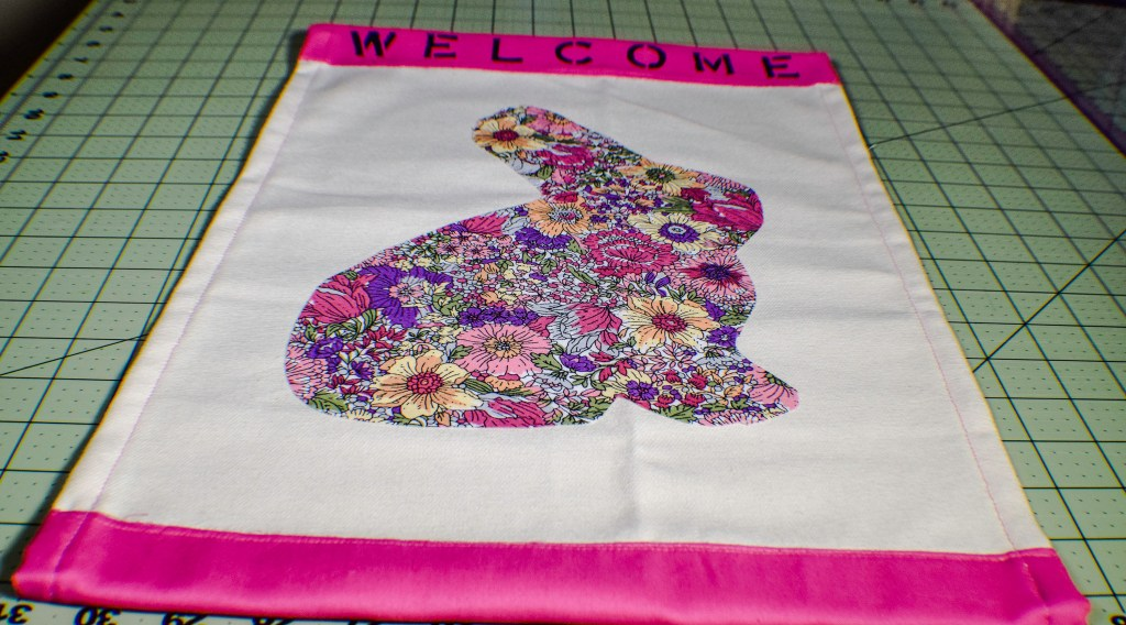 Make an Easter garden flag