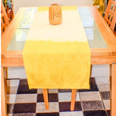 Natural Dyed Drop Cloth Table Runner