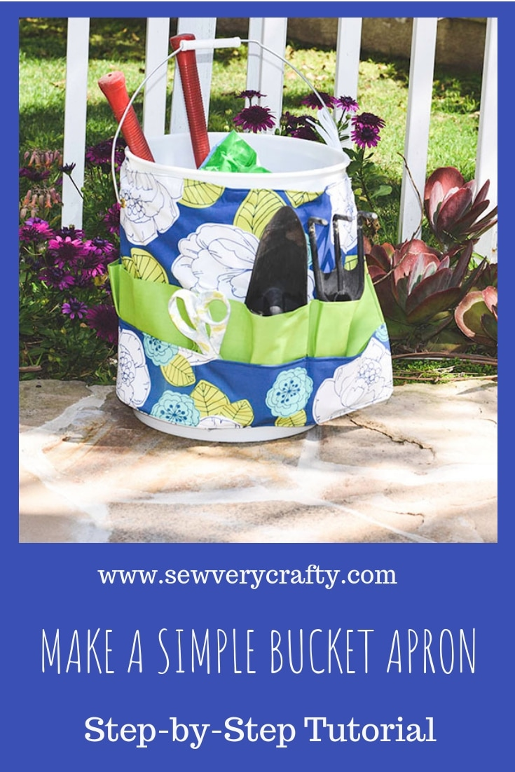 How to make a gardening bucket apron