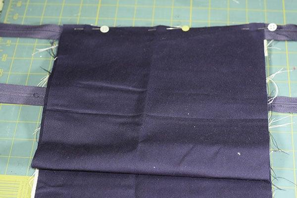 Make a double zipper cross body bag