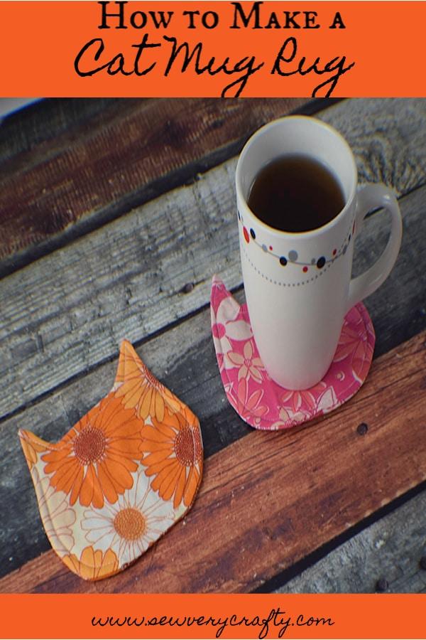 How to make a cat mug rug