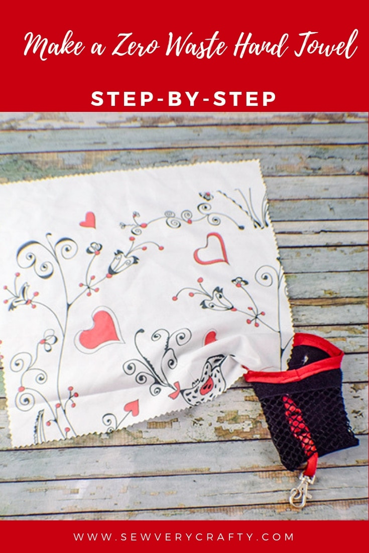 How to Make a Zero Waste Hand Towel - Sew Very Crafty