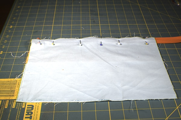 How to make an open wide zippered pouch