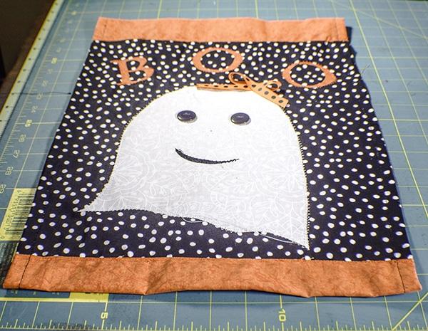 How to make a Halloween Garden Flag