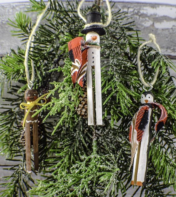 How to make Clothespin Christmas Ornaments