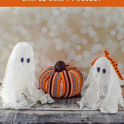How to Make Floating Halloween Cheesecloth Ghosts